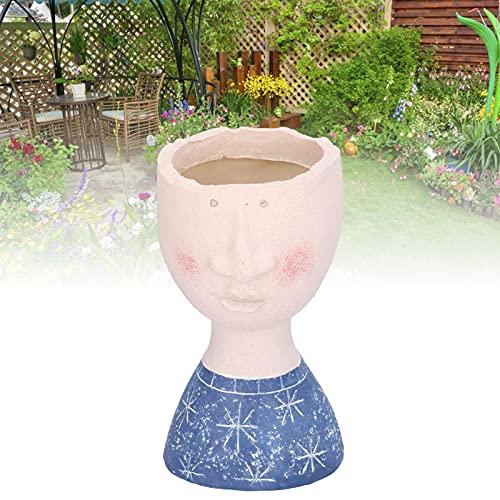 Vasi di cemento, fioriera di cemento durevole Mini ornamenti di lunga durata con vasi di fiori a faccia umana per la stanza dei bambini per il giardino