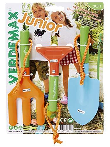 Verdemax 3071Outils de Jardin à Manche Court pour Enfant (Lot de 3)