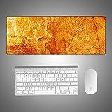 Tappetino per mouse in marmo creativo tappetino per mouse da scrivania colorato per computer super grande ufficio detriti cartoon marmo giallo