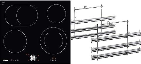 Neff T16PT76X0 Elektrokochfeld N70 / 60cm / TwistPad/Bräterzone/Glaskeramik/flächenbündig & Z11TF36X0 Backofen- und Herdzubehör/Kochfeld/Teleskop-Vollauszug