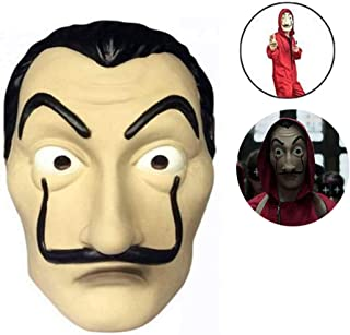 Cloud speeding Máscara La Casa De Papel, PVC Cosplay Costume Halloween Dali Mask, para Halloween Pascua Navidad Masquerade Bar Decoración Festival, Etc.