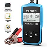 TOPDON AB101 Car Battery Tester 12V Car Battery Load Tester on Cranking Charging Systems, 100-2000...