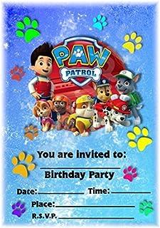 Paw Patrol Party Invites