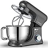 COOKLEE Stand Mixer, All-Metal Series 6.5 Qt. Kitchen Electric Mixer with Dishwasher-Safe Dough Hooks, Flat...