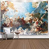 Sertiony Hanging Wall Tapestry,Tapestry Décor 80X60 Inchparis France April 18 Ceiling Painting in Hercules Room of the Royal Chateau Versailles on 2015 for Bedroom Colorful Big Tapestries,Purple Green