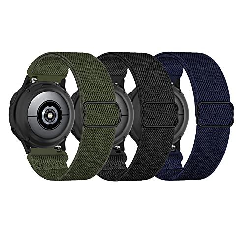 Wizvv Nylon Elastic Correas Pulsera de Repuesto compatibles con Huawei Amzfit Watch GT2 Pro /Samsung Galaxy Watch 46 mm Watch 3 / Gear S3 45 mm 22 mm Reloj Inteligente para Hombres Mujeres