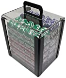 Trademark Poker 1000 Chip Capacity Clear Carrier Chip (Clear) , 10'L x 8 'W x 13 'H.