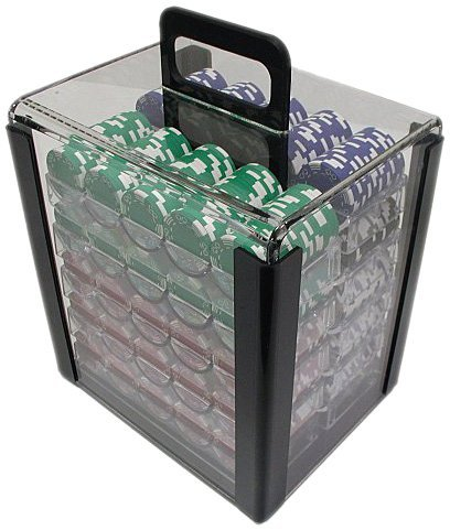 Trademark Poker 1000 Chip Capacity Clear Carrier Chip (Clear) , 10