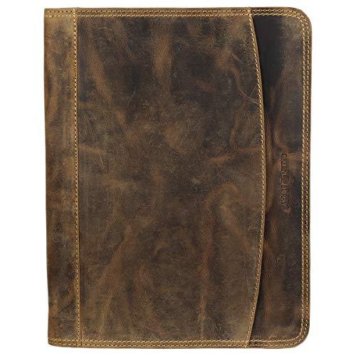 Greenburry Vintage Manager 1721-25 Leder Dokumentenmappe 33x26x2,5cm antikbraun