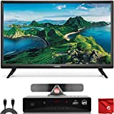 VIZIO D-Series 24-Inch Class 1080p Full HD LED Smart TV (D24F-G1) with Built-in HDMI, USB, SmartCast, Voice Control Bundle with Circuit City ATSC HD Digital Converter Box and Accessories