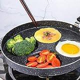 WJHCDDA Sartén Multiusos para panqueques, sartén para Huevos de 4 Tazas no Adhesivas, Olla para Huevos de Aluminio, sartén para Desayuno para Tortilla de Hamburguesas Plett Plancha Sueca para Estufa