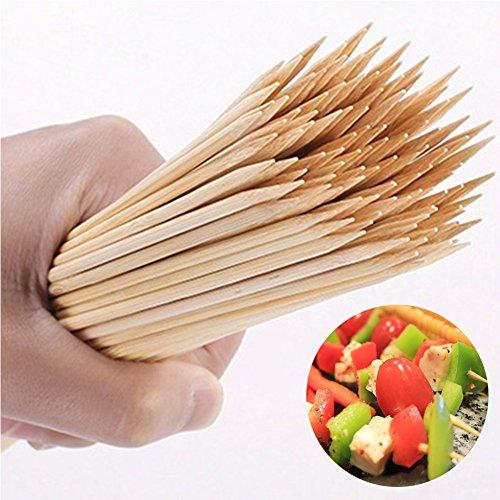 Bamboe Skewers Food Grade Houten Bamboe BBQ Skewers voor BBQ, Kebabs, Fruit, Chocolade Fonteinen, 20cm 90pcs
