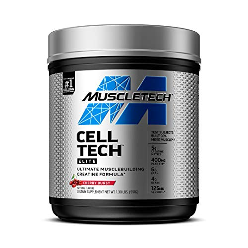 Creatine Monohydrate Powder   MuscleTech CellTech Elite Creatine Powder   Post Workout Recovery Drink   Muscle Builder for Men amp Women   Creatine HCl Supplement   Cherry Burst 20 Servings