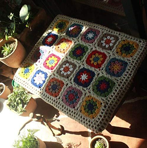 Ltjqsm Pastoraler Stil Garten blendender extra Dicker Gänseblümchenwolle Handgewebtes Esszimmerstuhl Cushio (Color : Color, Specification : 50x40x4CM)