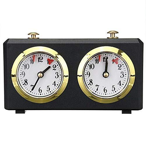 HHYSPA Temporizador de Reloj de ajedrez, Reloj de ajedrez analógico - Relojes de ajedrez mecánicos Garde - Reloj de ajedrez Cuenta Ascendente y descendente