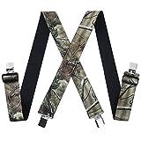Mens Utility Suspenders X Shape - Wide 2'...