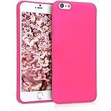 kwmobile Funda para Apple iPhone 6 Plus / 6S Plus - Carcasa de TPU Silicona - Protector Trasero en Rosa neón
