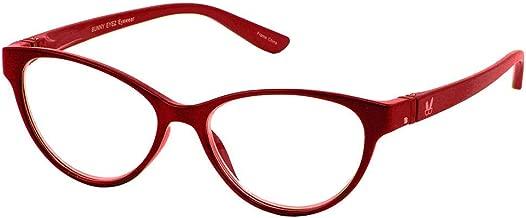 Bunny Eyez Raquel Wearable, Tilt-able, Flip-able Women's Reading Glasses - Sparkle Ruby Red (+1.50)