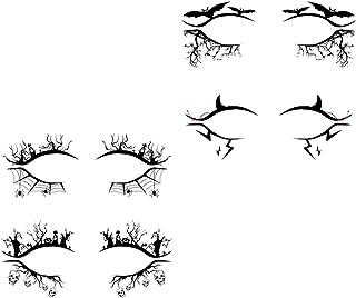 Beaupretty Tijdelijke Eye Tattoo Stickers 4 Pairs Eye Tattoo Makeup Transfer Stickers Make- Up Eyeliner Stickers Oogschadu...
