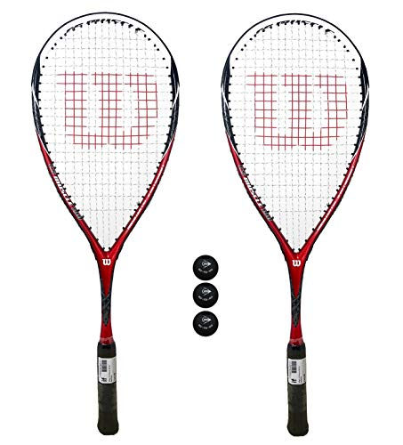 Wilson Lot de 2 raquettes de Squash avec système...