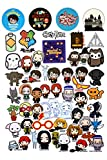 Conquest Journals Harry Potter Chibi Vinyl Stickers, Set of 50, Indoor and Outdoor Use, Waterproof and UV Resistant, Great for All Your Gadgets, Potterfy All The Things