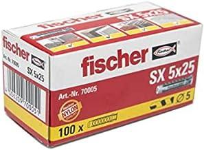 FISCHER plug SX, maat 5 x 25 mm, met flens, verpakking van 100 stuks,