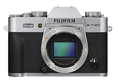 Fujifilm X-T20 Mirrorless Digital Camera, Silver (Body Only)