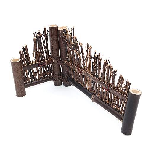 POFET Bambus-Zaun für Teezeremonie, Teetischdekoration, Teehaus-Zubehör, Ornamente
