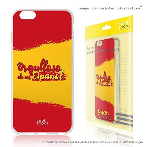 Funnytech® Funda Silicona para Xiaomi Mi Mix 2S [Gel Silicona Flexible, Diseño Exclusivo] Bandera España Orgulloso