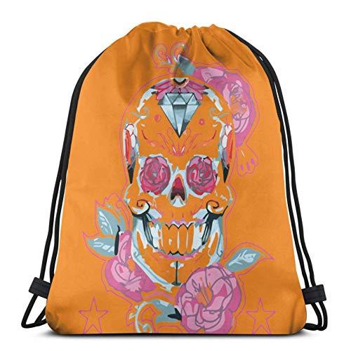 XCNGG Sporttasche Kordeltasche Reisetasche Sporttasche Schultasche Rucksack Drawstring Bag Max's Skull Pjs Episode 3 Training Gymsack