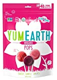 YumEarth Organic Spring Lollipops, Fruit Flavored Pops, 40 Count - Allergy Friendly, Non GMO, Gluten Free, Vegan