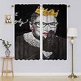 lacencn R.B.G Ruth Bader Ginsburg Cortina de ventana con ojales, cortina de tela de bajo consumo para dormitorio/sala de estar 55 x 72 cm