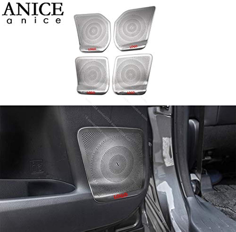 Steel Door Upper Louder Speaker Panel Cover Trim for Toyota Highlander Kluger 2014-2019