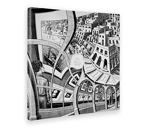Giallobus - Cuadro - Impresion EN Lienzo - Escher - GALERÍA DE IMPRESIÓN - 70 x 70 CM