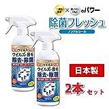 【東亜 TOAMIT】除菌フレッシュ 除菌・消臭剤 スプレーボトル 350mL ×2個セット