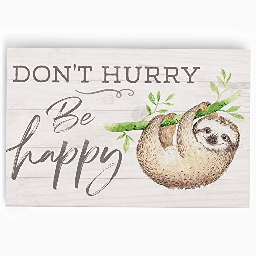 Decorative Sloth Wood Plaque