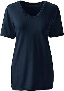 Women's Petite Relaxed Supima Cotton Short Sleeve V-Neck T-Shirt