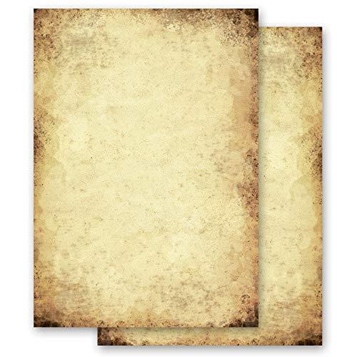 50 Blatt Briefpapier Antik & History ALTES PAPIER - DIN A5 Format - Paper-Media