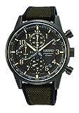 SEIKO Herren Analoger Quarz Uhr mit Kautschuk Armband SSB371P1