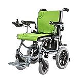 SSHHI Intelligent Elektrischer Rollstuhl,Leicht Faltbar Lithium Batterie Gehhilfe Für Ältere Menschen Dauerhaft/Grün / 680×620×830mm -