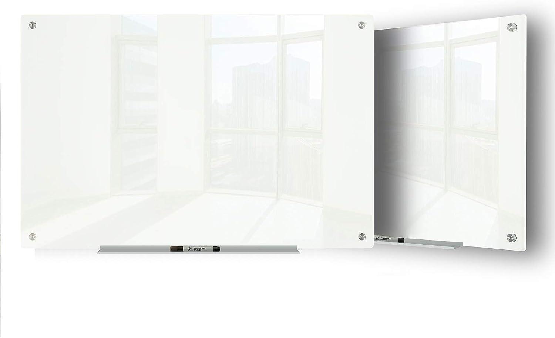 JJ worldwide 別倉庫からの配送 Glass Whiteboard 23 通信販売 Magnetic 35 x Inches Dr