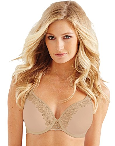 Bali Designs Women's Bali One Smooth U Ultra Light Lace with Lift Underwire, Nude, 32C