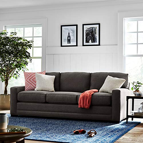 "Amazon Brand – Stone & Beam Dalton Sofa, 91.5""W, Charcoal"