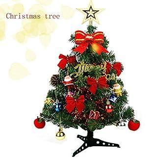 longyisound Árbol De Navidad Artificial 60cm Decoración De árbol De Navidad, Verde Árbol De Navidad Decorado con Arcos Bolas De árbol De Navidad