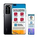 HUAWEI P40 Pro Dual-SIM BUNDLE (16,7 cm (6.58 Zoll), 256 GB interner Speicher, 8 GB RAM, Android 10.0 AOSP ohne Google Play Store, EMUI 10.0.1) Midnight Black [+5EUR Amazon Gutschein]