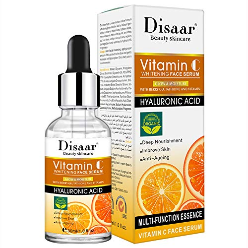 DISAAR BEAUTY Vitamin С Hyaluronic Acid Anti-Aging Moisturizing Facial Serum Deep Nourishment Anti Acne Improve Skin 30ML