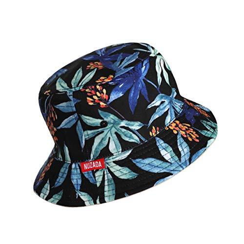 MaoXinTek Sombrero del Pescador Unisexo Plegable Reversible Algodón Imprimiendo Bucket Hat Al Aire Libre Visera para Senderismo Camping y Playa 56-58 cm