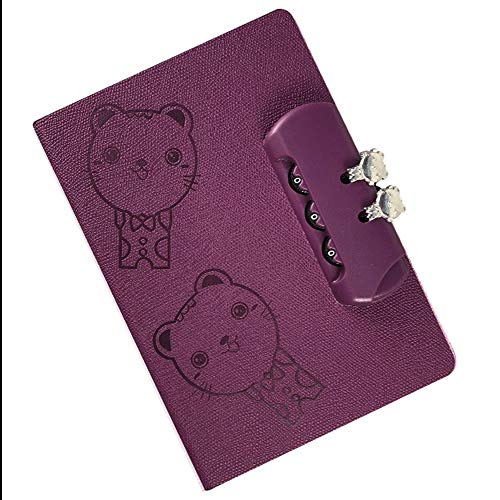 Notebooks Notebook met Lock Pu lederen dagboek planner boek school briefpapier geschenken verdikking Notebook Paars