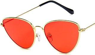 DishyKooker Women Metal Frame Cat Eye Shape Fashion UV400 Sunglasses Wearing Decoration