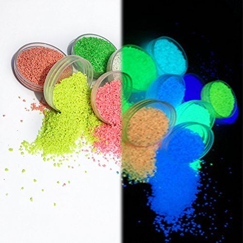 SHZONS Luminous Powder, Glow in The Dark Non-Toxic DIY Fluorescent Pigment Powder for Nails,EDM Music Festivals,Resin,Concerts